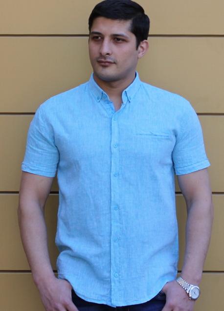 Рубашка с коротким рукавом 820 купить оптом в Москве